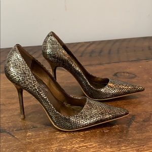 ALDO Metallic Gold Snakeskin Pumps  Sz 36 / US 6